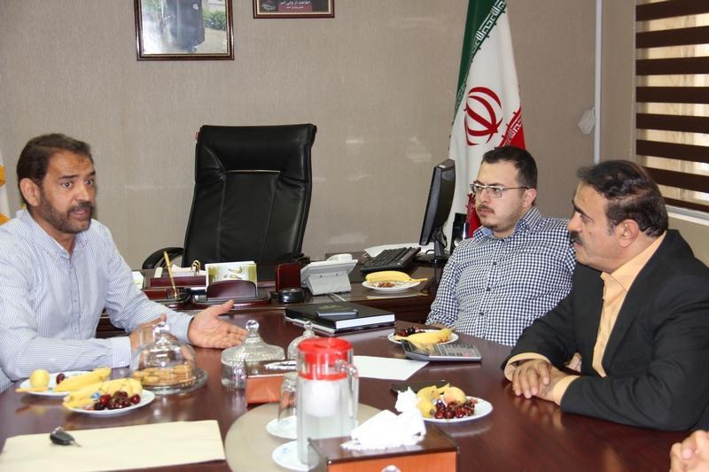 جلسه مهندس رضا الماسی  با فیروز کریمی در مورد تیم ملوان